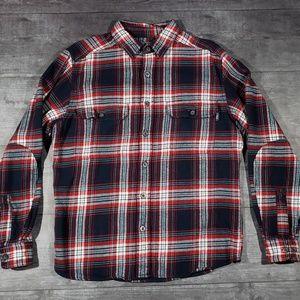 Woolrich mens flannel shirt jacket size M
